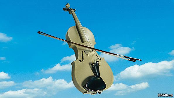 retirada da The Economist - violino construído numa impressora 3D